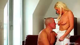 Heavenly Blonde Vanessa Hell Strips For Her Man - HD